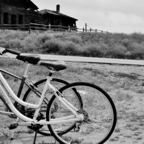 A Norco and a Giant at the Haynes Ranch